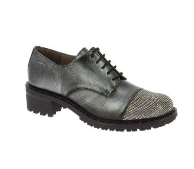 Zapato mujer piel crosta asfalto aspormetal