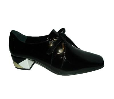 Mujer Tacón Charol Negro Zapato Multicolor BdCrxoe