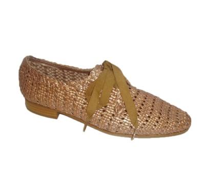 7418f38388c Zapato plano mujer piel trenzada royal rame - Zapatos de cordón ...