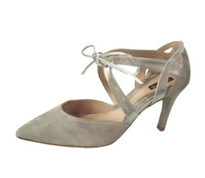 Puntero Tacón Mujer Zapato De Zapatos Anteespejo Combina Gris 6zcWFcq7