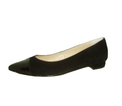 Zapato salón mujer afelpado negro
