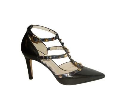 Luxor Piel Salón Valentino Comprar Mujer Negro Zapato qExtw0Px
