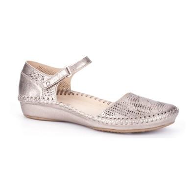 Zapato Vallarta mujer piel stone velcro