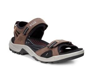 Sandalia piel color chocolate doble velcro