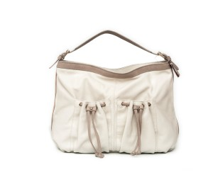 Bolso mujer piel blanco off/gris