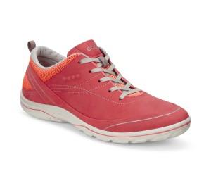 Zapato deportivo mujer piel-textil coral