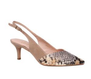 Zapato destalonado tacón fino bottier