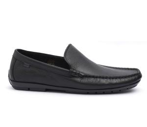 Zapato mocasín hombre piel negra