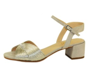 Sandalia mujer combina 2 pieles miko plata