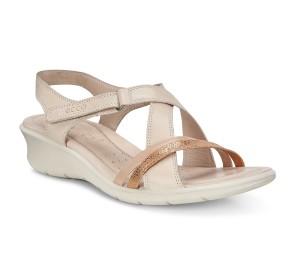 Sandalia mujer cashmere/bronze velcro