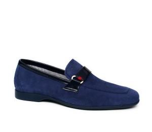 Zapato hombre serraje azul