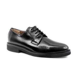 Zapato blucher de cordon piel negro clasico piso confort extralight
