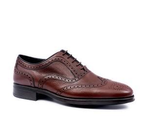 Zapato ingles hombre piel marrón piso confort light