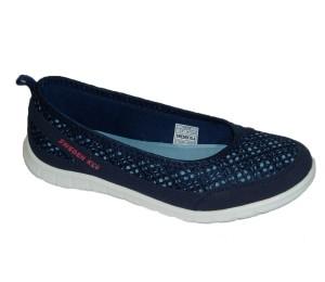 Zapatilla escotada de textil marino piso ligero