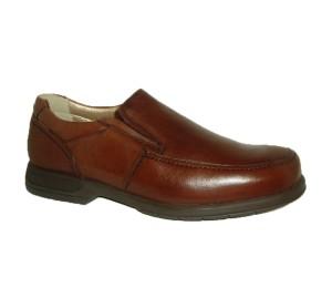 Zapato abotinado marrón pala