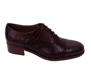 Zapato mujer piel monroe castaña cordones