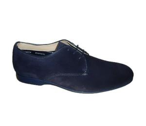 Zapato hombre afelpado marino cordones