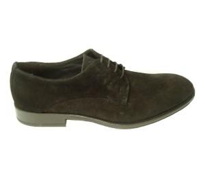 Zapato blucher hombre afelpado negro