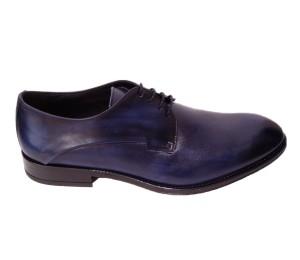 Zapato blucher hombre piel victoria azul