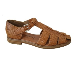 Zapato cangrejero mujer piel trenzado cuero