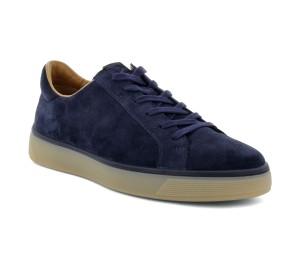 Ecco zapato casual hombre ante azul navy cordones