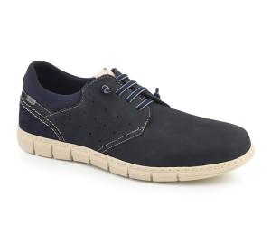 Zapato hombre piel kenia marino cordones elásticos