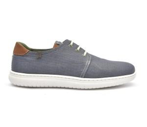 Zapato casual hombre lino vegano azul navy