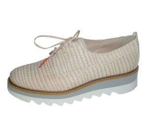Zapato casual mujer piel bani candy piso bloque bicolor