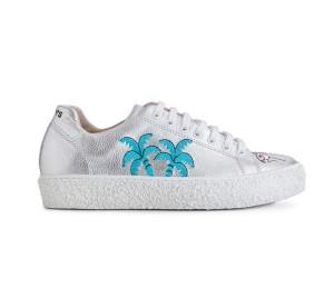 Zapato mujer piel wash plata cordones