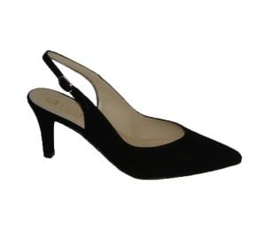 Zapato chanelita mujer ante negro tacón