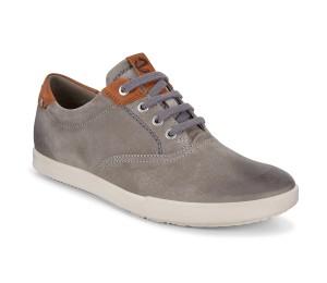 Zapato de cordón en piel tan grey estilo deportivo