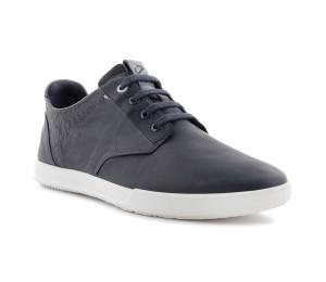 Zapato casual hombre piel azul marino cordones