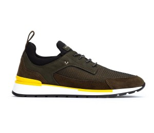 Zapato Milo deportivo hombre musgo piso bicolor