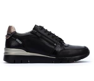 Zapato Cantabria piel black cordones y cremallera