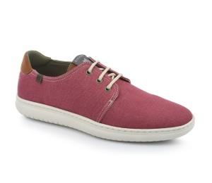 Zapato deportivo hombre lino vegano rojo