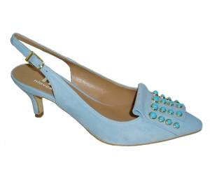 Chanelita mujer blu tacón
