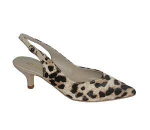 Chanelita mujer piel pelo leopardo/nude