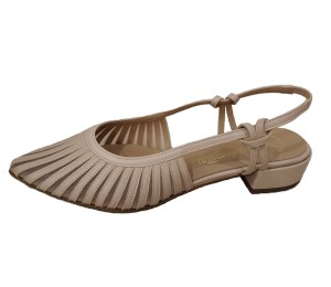 Zapato destalonado mujer piel tibet ice