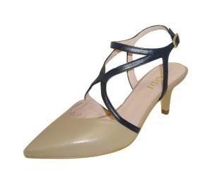 Zapato destalonado mujer seda stone/pacifico
