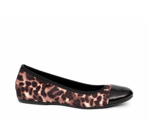 Zapato salon mujer plano animal