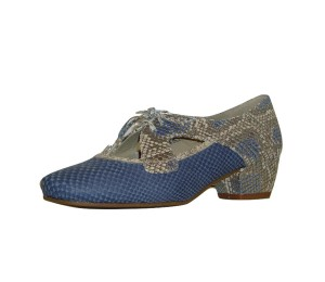 Zapato gales mujer dos pieles blue