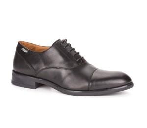 Zapato inglés Bristol  hombre piel negra pala cortada