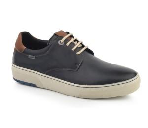 Zapato hombre piel cathay azul marino cordones piso grueso