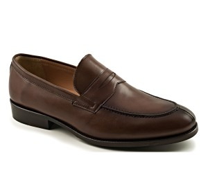 Zapato hombre piel caoba antifaz