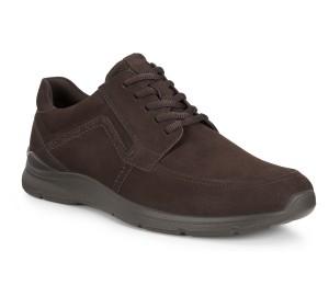 Zapato hombre nobuck moka cordones