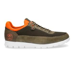 Zapato hombre piel velour kaki waterproof