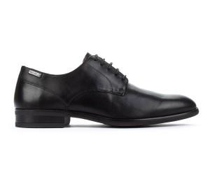 Zapato Bristol hombre piel black liso