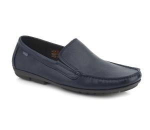Zapato mocasín piel dublin azul marino elásticos