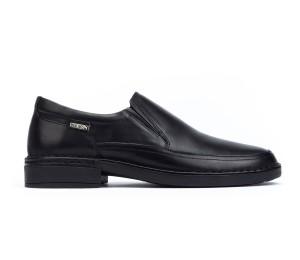 Bermeo Zapato mocasín hombre piel black elásticos