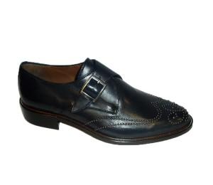 Zapato mujer abotinado piel marino microrremaches